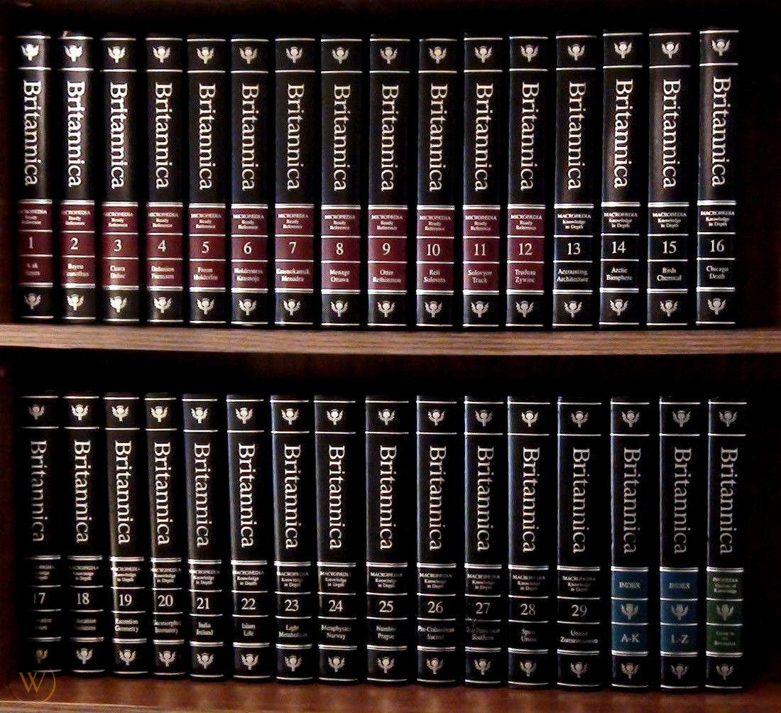 Image showing a set of the Encyclopedia Britannica.