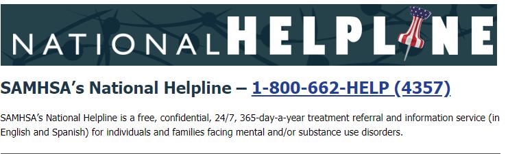SAMHSA's National Helpline