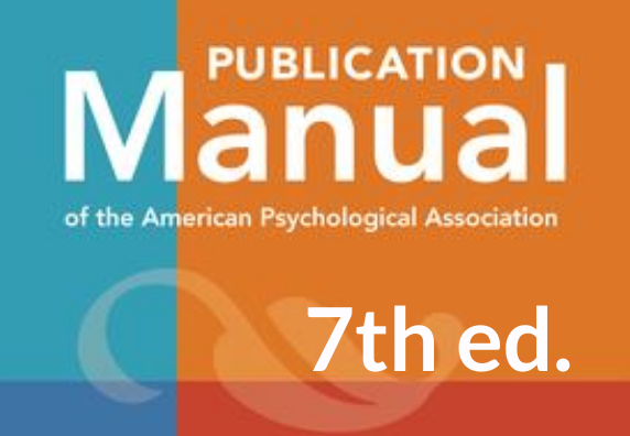 Cover of APA Manual of Style 7th edition.