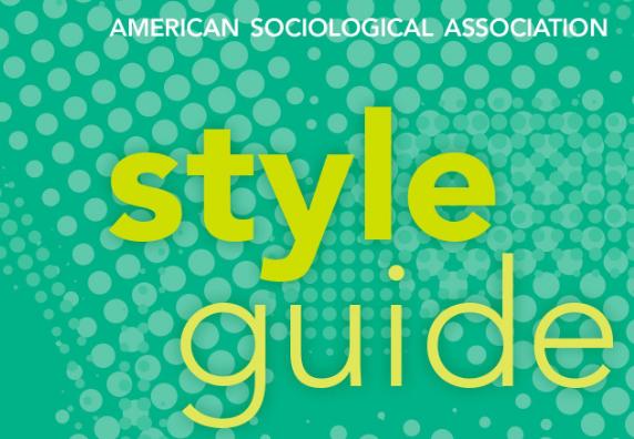 American Sociological Association handbook cover