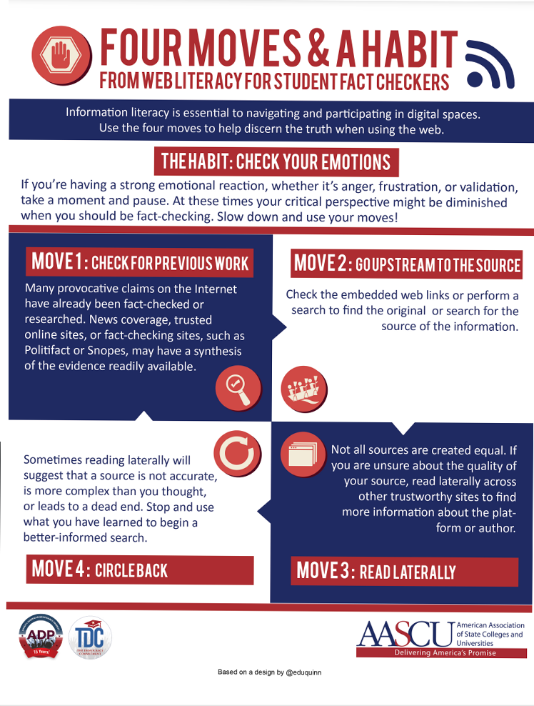 Preview of four moves and a habit infographic.