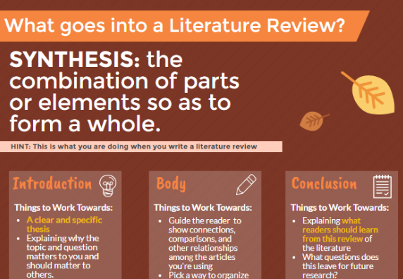 Preview of Literature Review infographic.