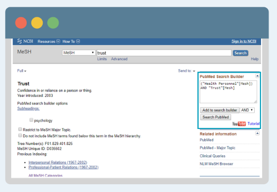 Preview of Using MeSH in PubMed video.