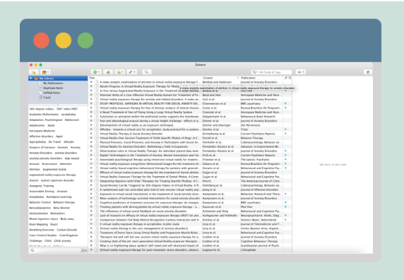 Preview of web browser and Zotero library.