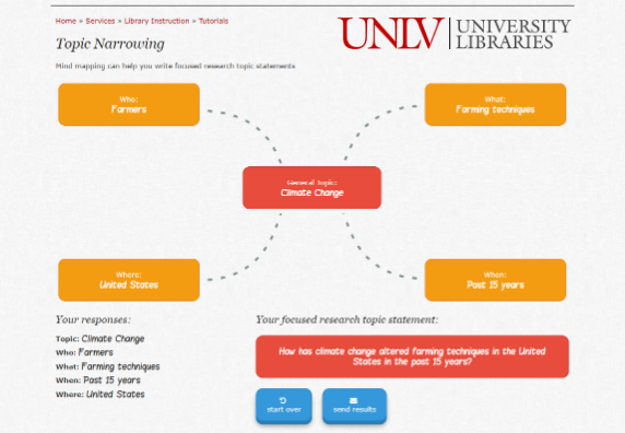 Preview of UNLV Topic Narrowing tutorial.