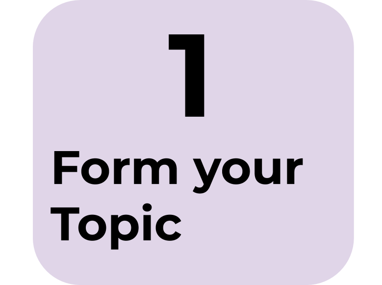 1) Form your Topic