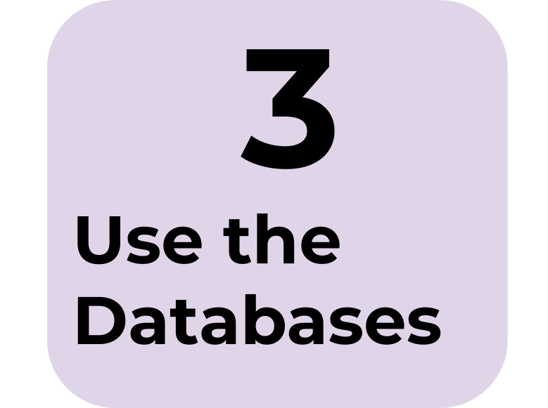 3) Use the Databases
