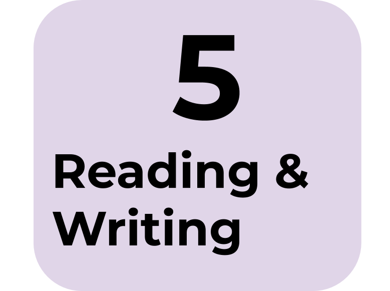 5) Reading & Writing
