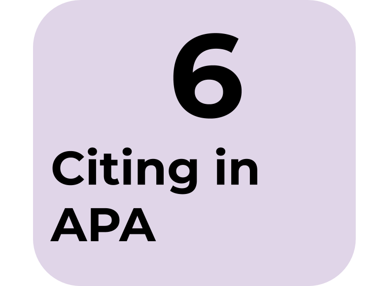 6) Citing in APA