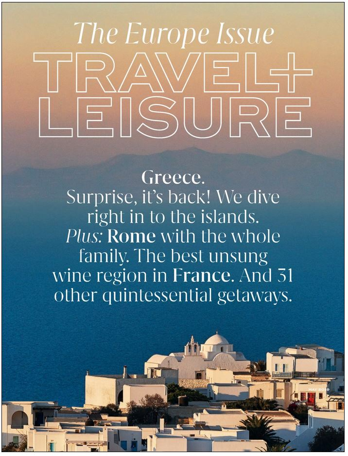 Travel & Leisure Magazine Cover
