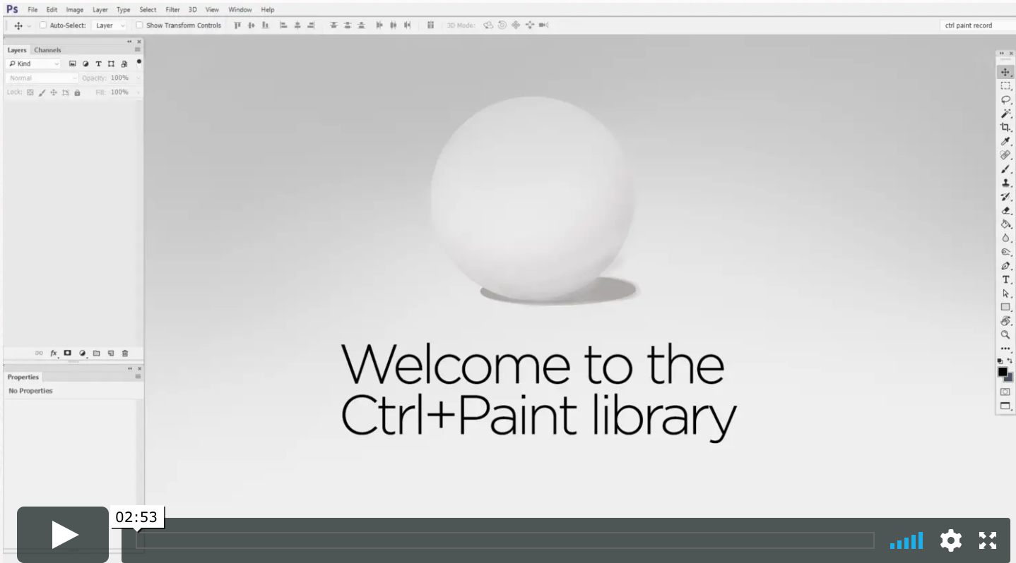 Image of a video of Ctrl+Paint's website.
