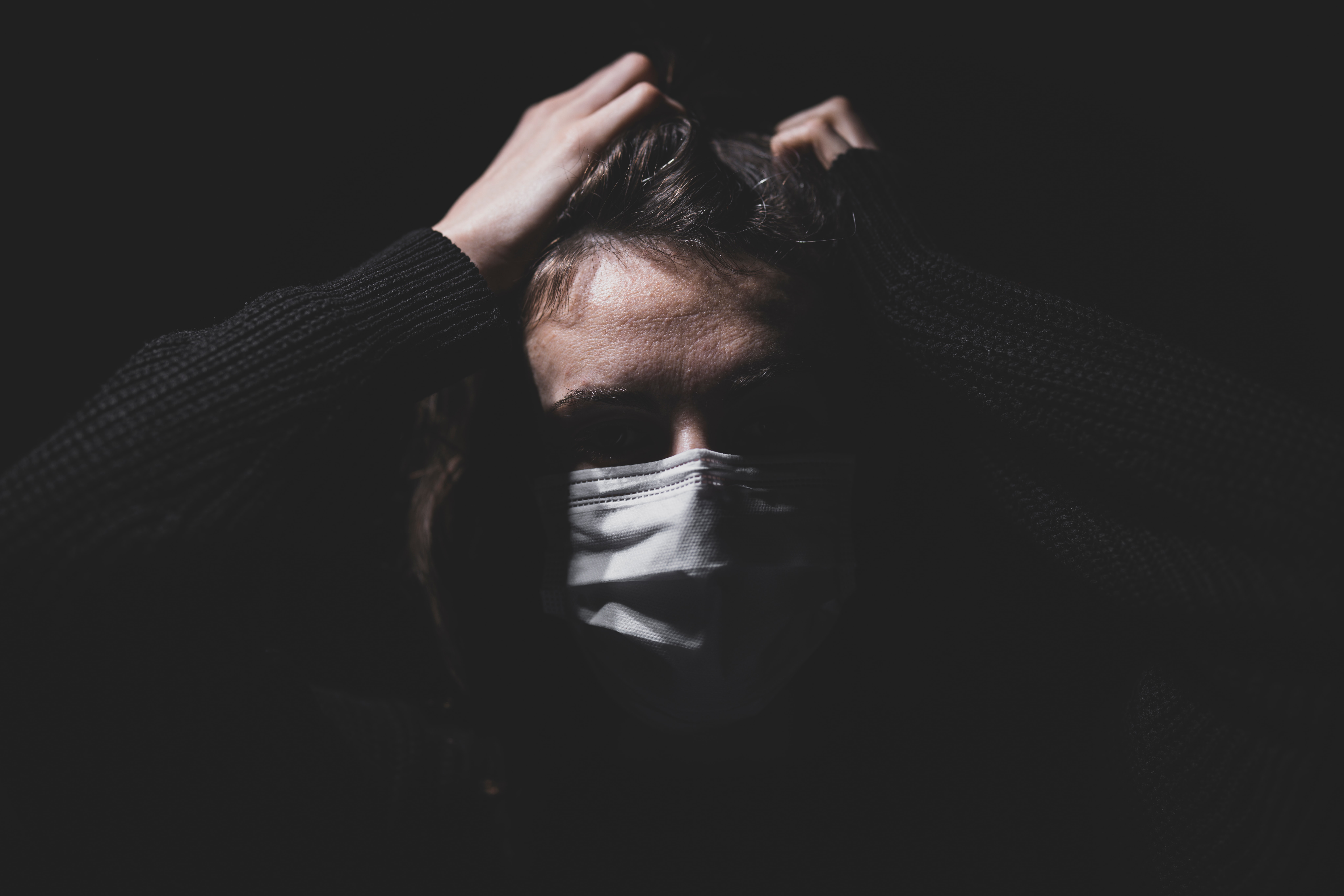 Person with mask