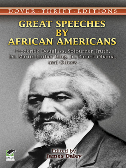 Great Speeches by African Americans book cover