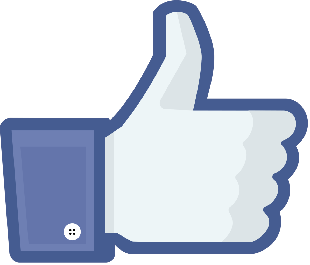 Like us hand sign for Facebook