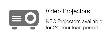 NEC Projectors available  for 24 hour loan period.