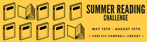 Join the summer reading challenge May 15 til August 15