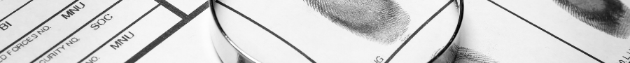 Image of a finger print on a file
