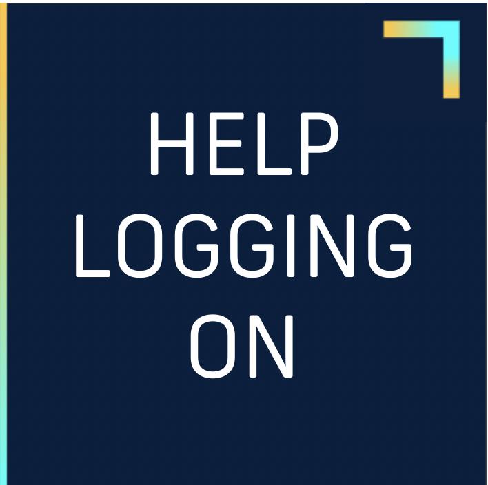 HELP LOGGING ON BOX