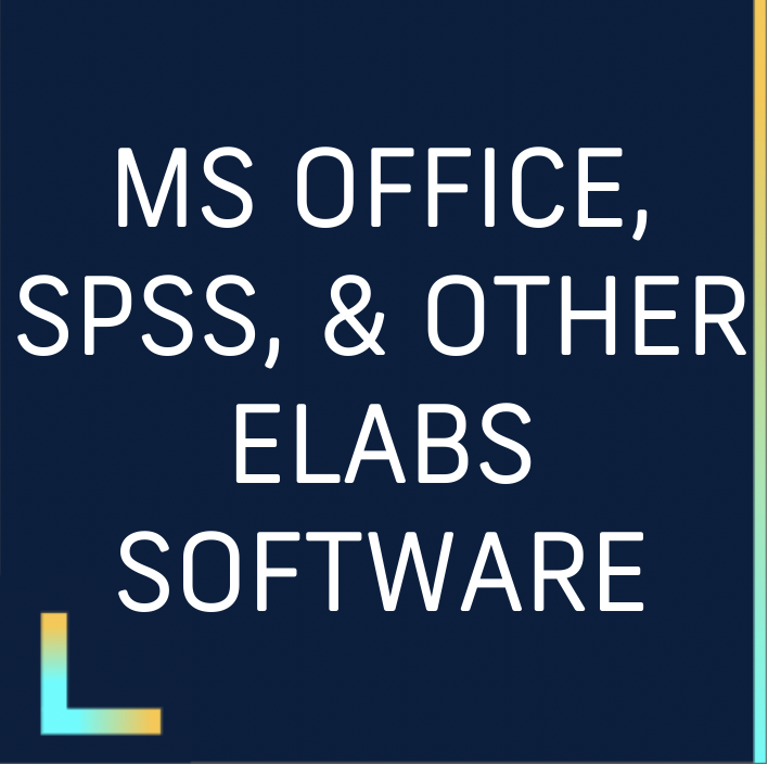 MS Office spss and other elabs software