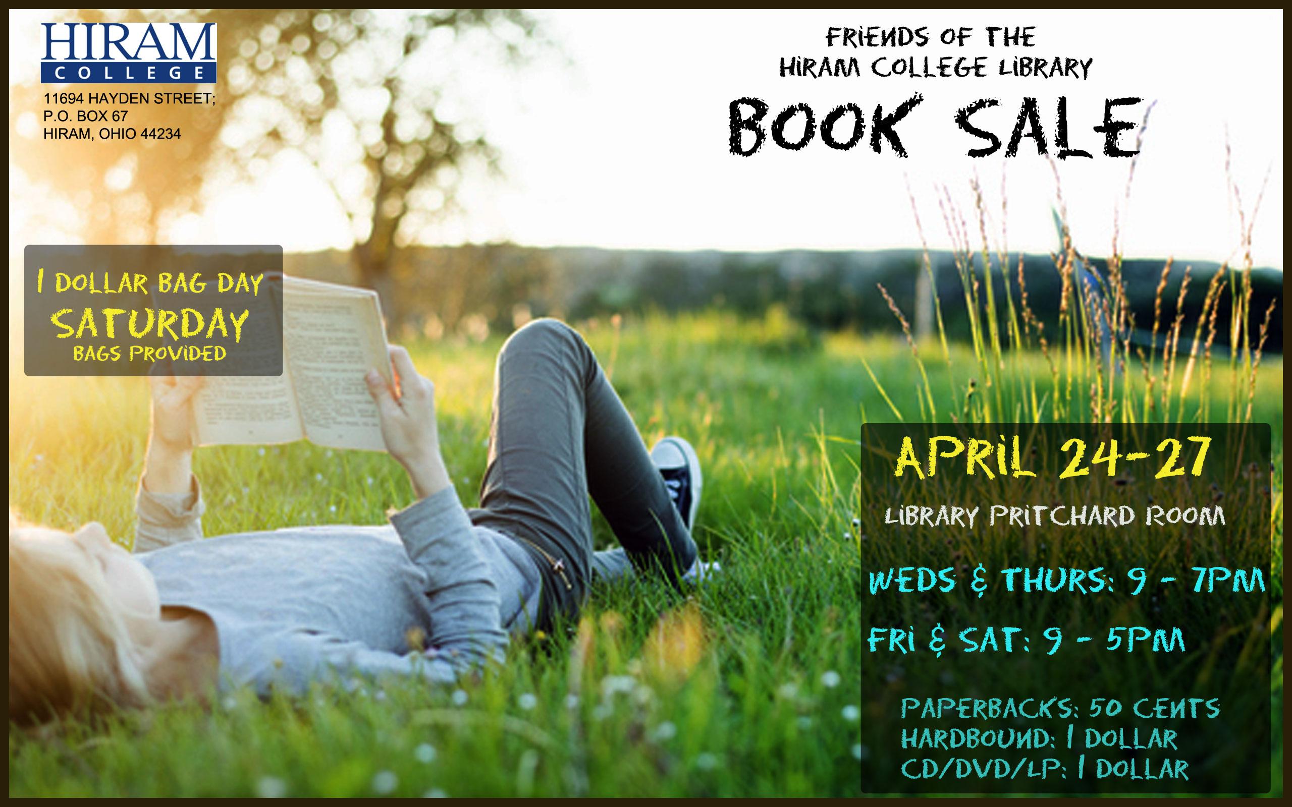 Book Sale image April 17th