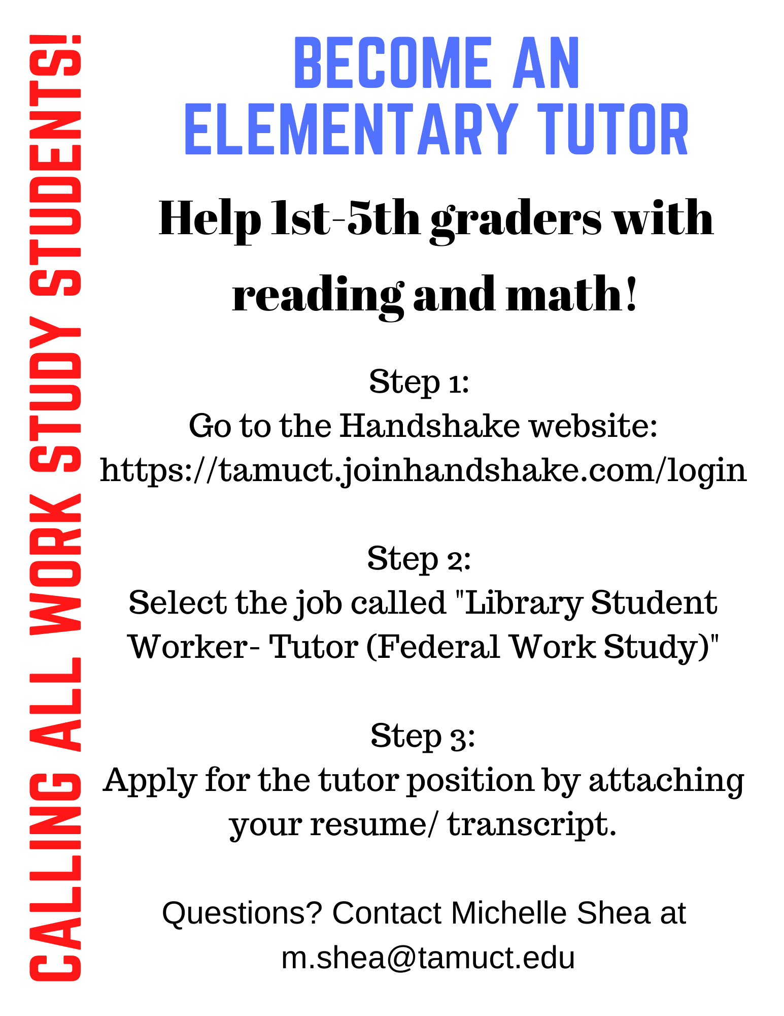 Become a Tutor Poster