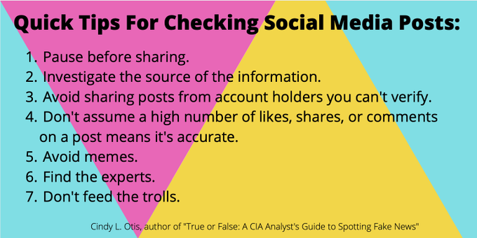 Tips for checking social media posts