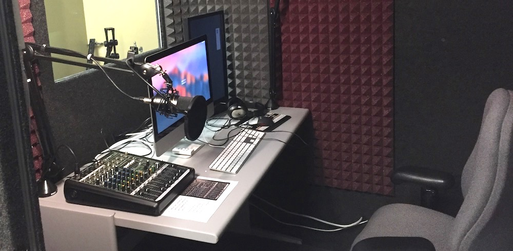 Recording Booth in the Digital Media Lab in Ellis Library