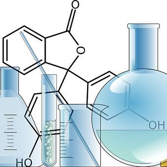Image of chemistry beakers