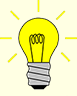 Icon of a light bulb glowing
