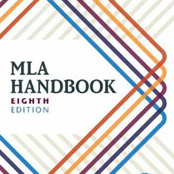 Image of the MLA Handbook eighth edition book cover