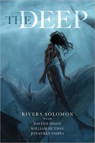 cover image, The Deep (a mermaid, swimming up)
