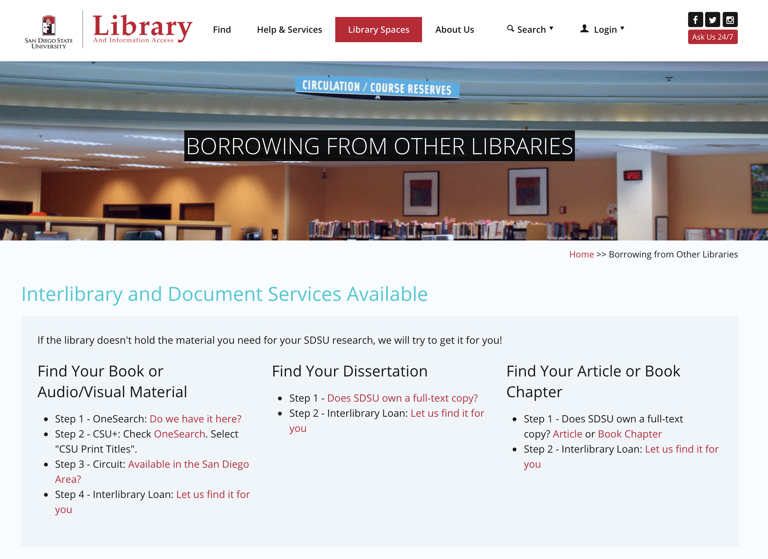 Borrowing from other libraries