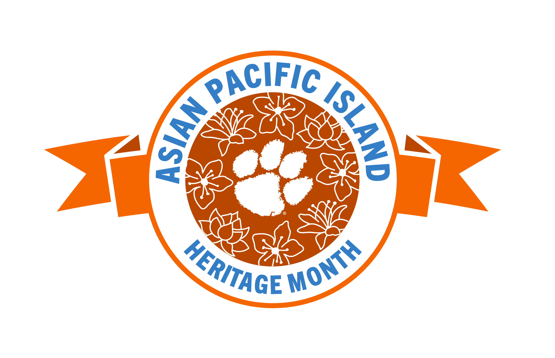 Asian Pacific American Heritage Month Logo from Clemson