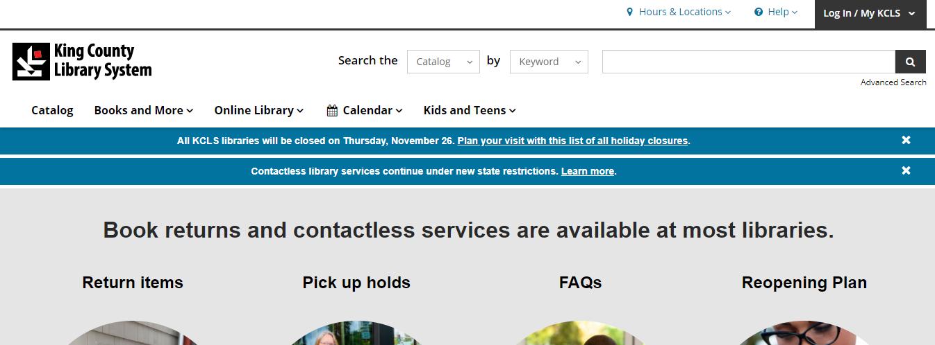 kcls homepage