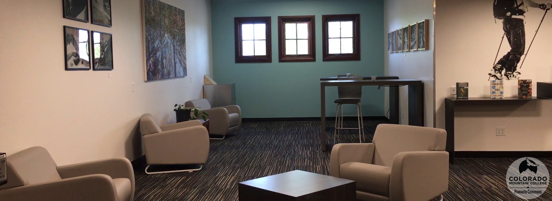 Sitting area in the Leadville Learning Commons