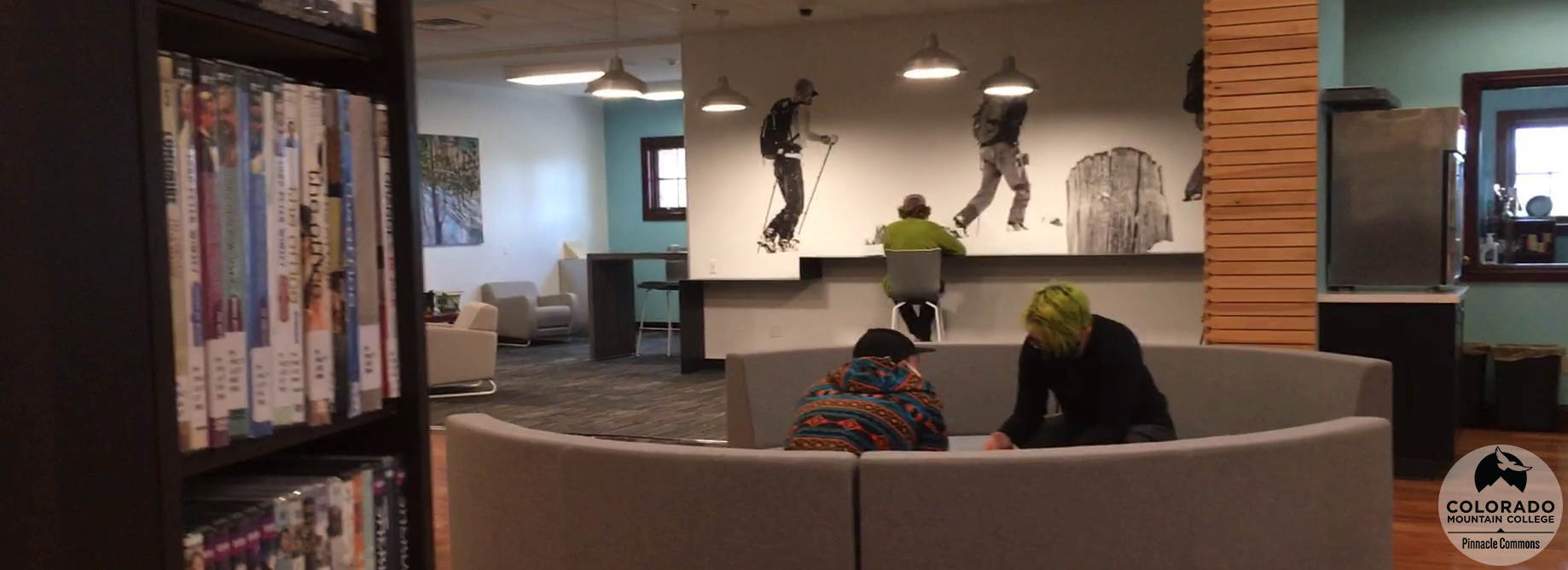 Students playing a game in the Leadville Learning Commons.