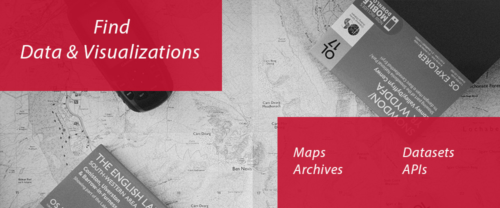 Find Data and Visualizations Maps Datasets Archives APIs