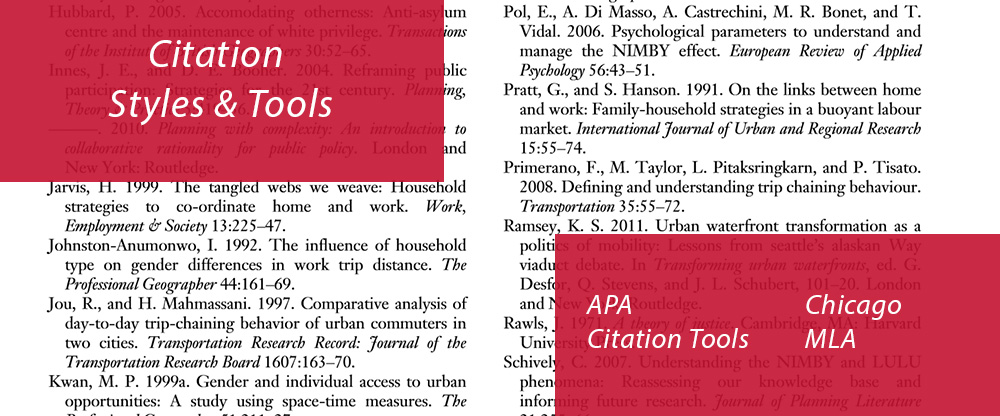 Citation Styles and Tools APA Chicago MLA Citation Tools image
