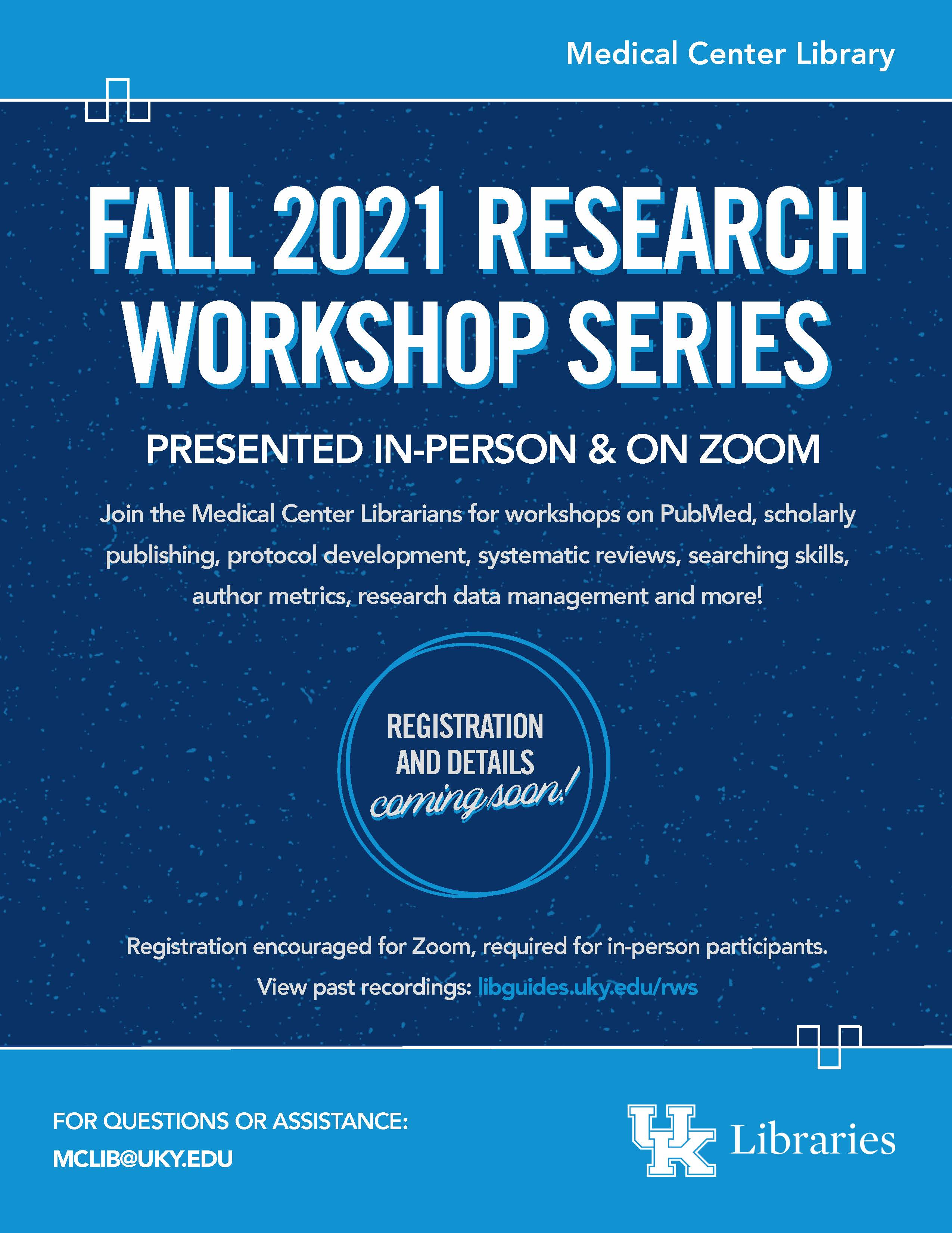 Research Workshop Series Flyer