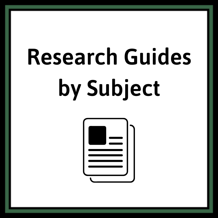 Research Guides by Subject