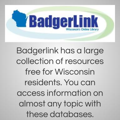 Badgerlink has a large collection of resources free for Wisconsin residents.