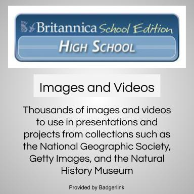 Thousands of images and videos to use in presentations and projects from collections such as the National Geographic Society, Getty Images, and the Natural History Museum