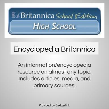An information/encyclopedia resource on almost any topic. Includes articles, media, and primary sources.