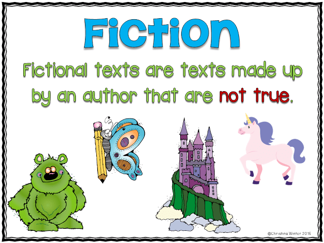 fictional texts are texts made up by an author that are not true
