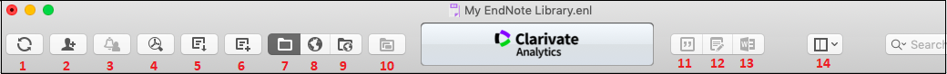Mac EndNote toolbar