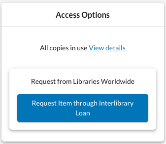 Access options for checked out book