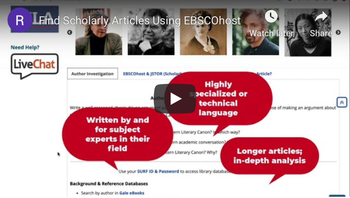 Scholarly Articles with EBSCOhost