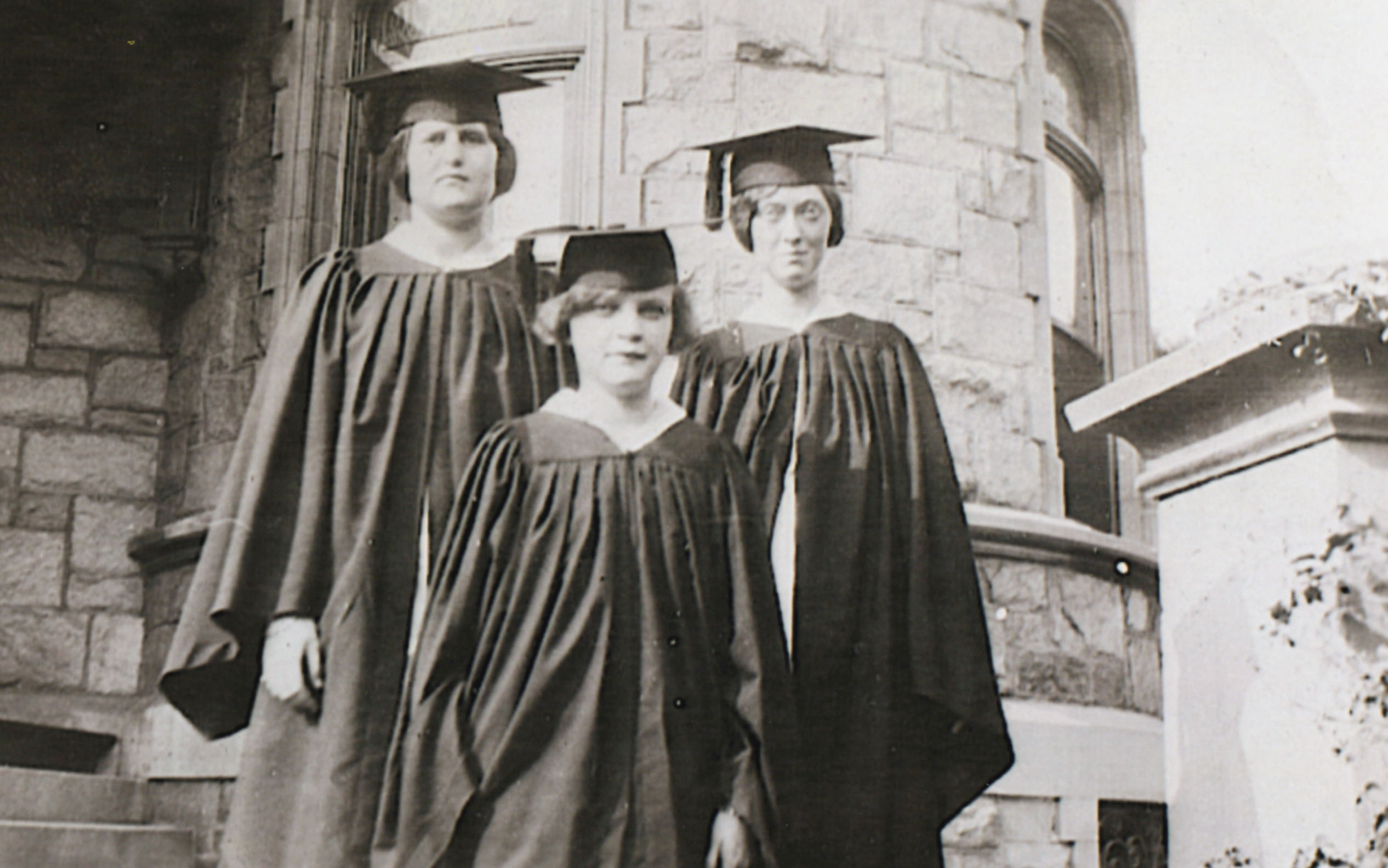 1927 Class Officers at Graduation