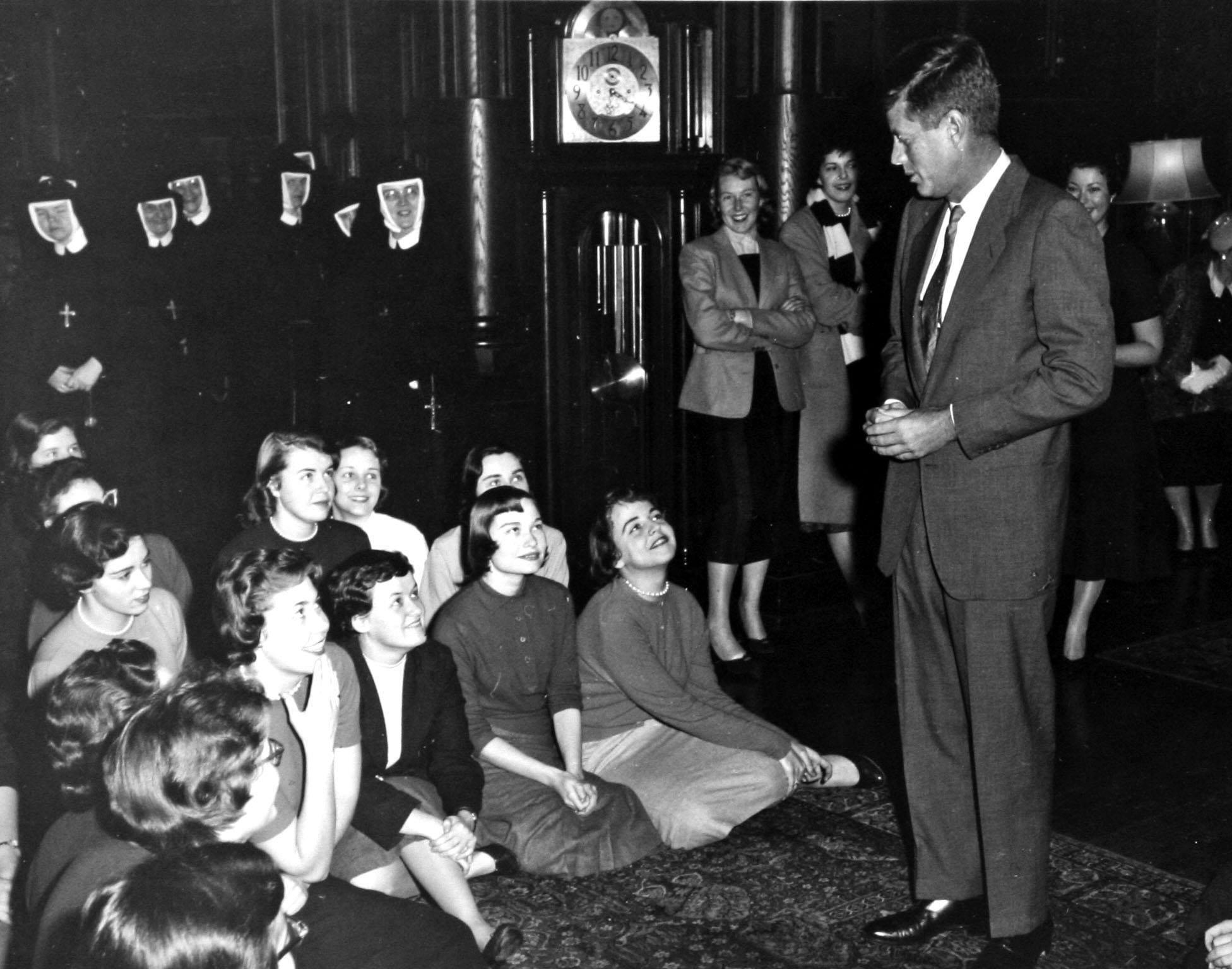 Senator John F. Kennedy visits Rosemont, 1957