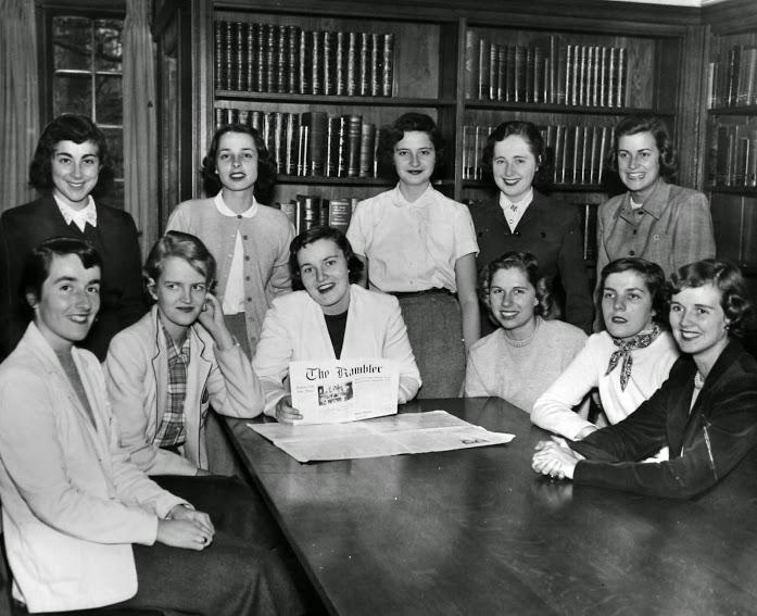 Rambler Staff group photo, 1950s